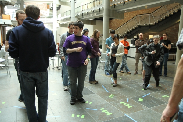 The students doing a computer science 'unplugged' activity